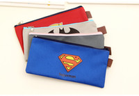 Wholesale AB39 Hero Style Oxford Pencil Bag Pen Case Holder Storage Organizer Stationery School Supply Student Gift