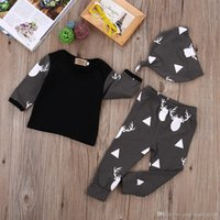 baby deer costume - sets Baby Girl Boy Deer Tops T shirt Leggings Trousers Hat Outfits Set Costume
