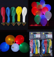 led balloons - Smallwholesales New Colorful LED Light Balloon For Wedding Celebration Party Bar Decoration Fixed LED Light Inches Light Up Balloons