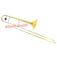 Wholesale Afanti Music Gold Lacquer Nickel Plated Trombone ASL