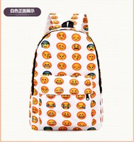 Backpack Style Unisex Cartoon 1pcs lot 2016 EMOJI QQ face smiling expression pattern backpacks Expression School bag preppy Back style sport woman Men mochila