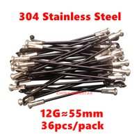 Wholesale MM G Electric Bicycle Spokes g mm Stainless Steel ED black Anodized E Bike Spokes Dia MM TSSB12055