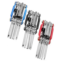 Wholesale 3 Colors in Bicycle Moutain Road Bike Tool Set Bicycle Cycling Multi Repair Tools Sets Kit Wrench Screwdriver Chain Cutter H210637