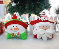 Wholesale Stuffed Santa Claus Sale - Christmas Star Pillows Indoor Christmas Pillow Decoration bolster With The Santa Claus And Snowman Xmas Five Star Stuffing Cushion hot sale