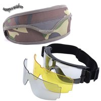 Wholesale Outdoor Sports Glasses Hunting Shooting Protection Gear Airsoft Goggles Cycling Sunglasses X800 Style Tactical Shooting Glasses