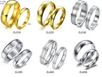 Wholesale Top Selling Excellent Quality L Stainless Steel Couple Rings Fashion Jewelry Titanium Steel Rings Mixed Order pair