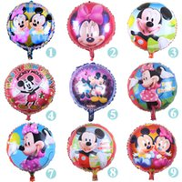 aluminium models - 50pcs Mickey Mouse Balloons inch Foil Helium Balloon Birthday Wedding Party Decoration Children Inflatable Toys models