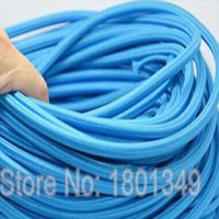 Wholesale meters Blue Color mm2 Textile Electrical Wire Color Braided Wire Fabric Covered Electrical Power Cord Wire Cable