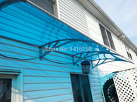 Wholesale DS100300 P x300cm depth cm width cm home use good quality with UV coat polycarbonate sheet easy to install entrance door canopy
