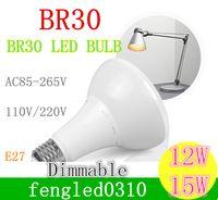 Wholesale Dimmable V V W W BR30 E27 E26 B22 LED Recessed Ceiling Light Bulb Mushroom Lamp replace w Halogen Lighting CRI gt PF gt