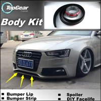audi spoilers - The Stig Recommen Body Kit For Audi A5 S5 RS5 Front Skirt Deflector Spoiler For Car Tuning Bumper Lips Strip