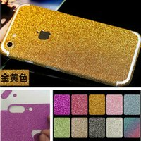 For Apple iPhone anti apple sticker - For iphone7 full body glitter sticker Front Back bling sticky skins APPLE cut protector films for iphone plus samsung s5 s6 s7