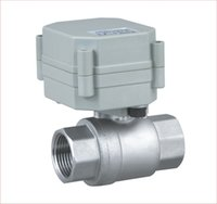 Wholesale 1 quot DN15 VAC Stainless Steel Motorized Ball Valve Normally Open Electrical Ball Valve