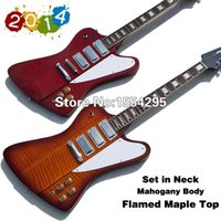 best new shows - New Best Price Firebird Electric guitar with Flamed Maple Sunburst hand made solid body Real photo showing