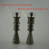 Wholesale Titanium Enail mm mm mm Highly Educated Domeless Titanium E Nail for mm mm Enail Coil Adjustable Titanium E Nail