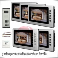access floor - High Qaulity quot LCD Wired Video Doorphone Door Access Control System For Apartments Villas Floors In Stock
