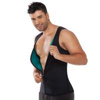 Wholesale Gym man sweating enhancing waist training corset cincher waist trainer sauna suit Sport vest hot shaper body slimming bodysuit