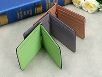 Wholesale Portative Man Wallet New PU Leather Multifunctional Folds Card Holders Thin Bag With Three Styles