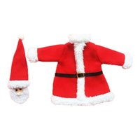 bag accessories manufacturer - Christmas wine accessories Interior decoration supplies red clothes champagne wine bag santa claus manufacturers and retail