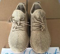 basketball shoes wide sizes - 2016 Wide Bottom Oxford Tan Kanye West Boost Suede With Logo Men Running Shoes Sneakers Size Basketball Boots Original Box Receipt