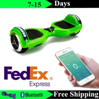 Wholesale Super Power Phone App Balance Wheel inch Smart Hoverboard Bluetooth Music Speaker Electric LED Scooter Two Wheels Fedex Shipping