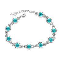 Wholesale 2016 Accessories purchase network Korea unique sweet Austrian crystal bracelet Fashionable joker rainbow sugar G063