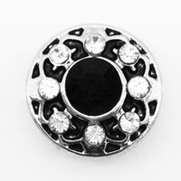 Wholesale SM1129 small metal snap button jewelry for bracelet Fit mm snap OEM ODM