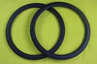 Wholesale mm Depth Clincher Road Bicycle carbon rims mm brake track width K Matte Front Rear H Internal Nipple Holes C