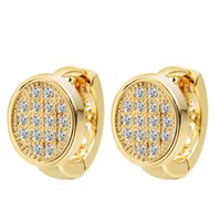 best bijoux - 10pcs New Fashion K Gold Plated Round Hoop Earrings For Women Wedding Jewelry Best Gifts Brincos Bijoux A1337