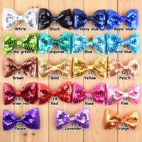 accesories for hair - 19 colors Sequin bows cm for kids girls hair accesories Barrettes hair clips hairpin