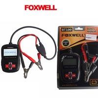 agm battery tester - FOXWELL BT100 V Car Battery Tester for Flooded AGM GEL Original BT Volt Battery Analyzer CCA