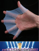 Wholesale Silicone material of rog palm swimming fins for hands sailor webbed palm flying fish webbed gloves flippers MYY