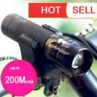 bicycle torches - 2016 hot New Waterproof Bicycle portable LED Light Lumens Mode CREE Q5 Bike Light Front Torch electric charger holder mount