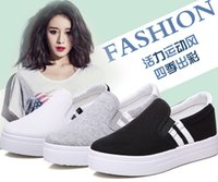 Wholesale Fashion slip on woman Casual Shoes breathable woman Canve Casual Flat Shoes colorful casual skate shoes