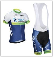 Cheap 2016 NEW Orica Cycling Jerseys Customize Accepted Short Sleeves Tour de France Dry Cycling Clothing( Cycling Top + Padded Bib Shorts )