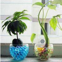 aqua soil - 5000PCS Bag Pearl Shaped Polymer Crystal Soil Water Beads Mud Grow Magic Jelly Gel Balls Home Decor Aqua Soil