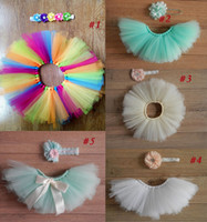 Wholesale Hot Sales Newborn Toddler Baby Girl Children s Tutu Skirts Dresses Headband set Fancy Costume Yarn Cute Colors