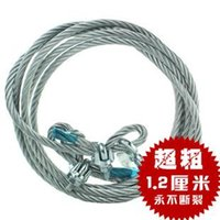 Wholesale Auto supplies steel wire car trailer rope mm coarse off road vehicle traction rope car belt meters