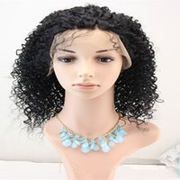custom made full lace wig - In exported to Brazil are semi lace wigs long curly hair black hood custom