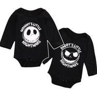 baby nightmares - halloween skull baby romepr newborn clothes letter mommy s daddy s little nightmare boy girl jumpsuit romper high quality infant romper