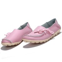 Cheap sandals New Arrival Spring Women Casual Shoes High Quality Genuine Leather Women Flats Shoes White Slip-on Ladies Wedge Shoes
