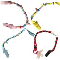 Wholesale Colored Dummy Clip Beads Chain Pacifier Holder Clips Pacifier L00048 CAD