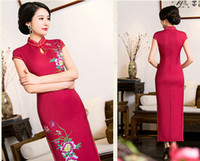 Wholesale cheongsam dress summer new cheongsam dress Long cheongsam improved cheongsam