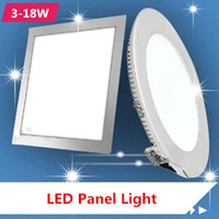 Wholesale LED w w w w w w w Ultra thin downlight dimmable led panels round square indoor lighting recessed Led ceiling downligh