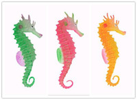 Wholesale New Arrive Environmental and friendly Luminous Sea Horse Hippocampus Aquarium silicone Fish Tank Decoration