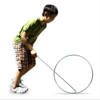 Wholesale roll hoop piling ring traditional nostalgic toys stall metal circle innovative products roll hoops cm
