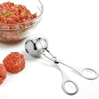 Wholesale Stainless steel mould making meatballs DIY fish ball Shrimp balls beef ball scoop kitchen gadget artifact