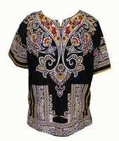 african print shirt - Fashion Design Cotton New Arrival African Print Dashiki Clothing Short Sleeve Dashiki T shirt For Men