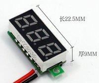 Wholesale high quality Inch V V wires bit Mini Digital Voltmeter Voltage Tester volt Meter LED Screen