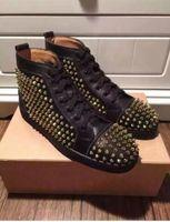 designer shoes for men - Men Designer Shoes High Top Sneakers Shoes Fats Men Sneaker Shoes for Men Genuine Leather with The Rivet Shoes Fashion Street Dancing